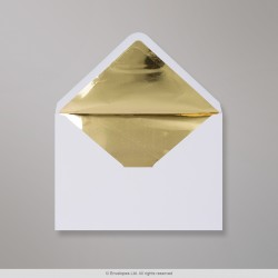 162x229 mm (C5) White Envelope Lined With Gold Foil
