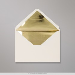 162x229 mm (C5) Ivory Envelope Lined With Gold Foil