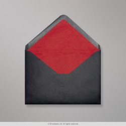 162x229 mm (C5) Black Envelope Lined With Red Fancy Paper