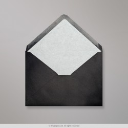 162x229 mm (C5) Black Envelope Lined With White Fancy Paper