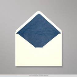 114x162 mm (C6) Ivory Envelope Lined With Blue Fancy Paper