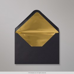 114x162 mm (C6) Black Envelope Lined With Gold Foil