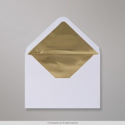 114x162 mm (C6) White Envelope Lined With Gold Foil