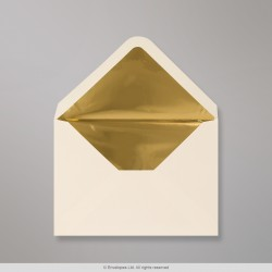 114x162 mm (C6) Ivory Envelope Lined With Gold Foil