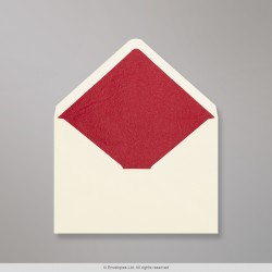 114x162 mm (C6) Ivory Envelope Lined With Red Fancy Paper