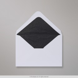 82x113 mm (C7) White Envelope Lined With Black Fancy Paper