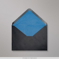 82x113 mm (C7) Black Envelope Lined With Blue Fancy Paper