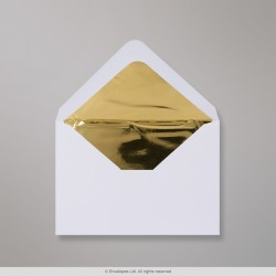 82x113 mm (C7) White Envelope Lined With Gold Foil