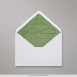 82x113 mm (C7) White Envelope Lined With Green Fancy Paper