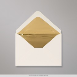 82x113 mm (C7) Ivory Envelope Lined With Gold Foil
