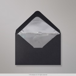 82x113 mm (C7) Black Envelope Lined With Silver Foil