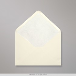 82x113 mm (C7) Ivory Envelope Lined With White Fancy Paper