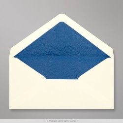 110x220 mm (DL) Ivory Envelope Lined With Blue Fancy Paper