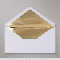 110x220 mm (DL) White Envelope Lined With Gold Foil