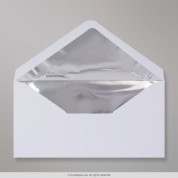 110x220 mm (DL) White Envelope Lined With Silver Foil