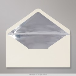 110x220 mm (DL) Ivory Envelope Lined With Silver Foil