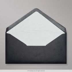 110x220 mm (DL) Black Envelope Lined With White Fancy Paper