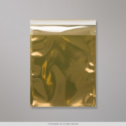 165x165 mm Gold Translucent Bag