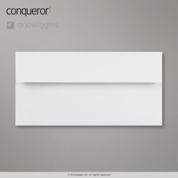 110x220 mm (DL) Brilliant White Conqueror Laid Envelope, Brilliant White, Peel and Seal