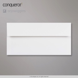 110x220 mm (DL) Brilliant White Conqueror Wove Envelope, Brilliant White, Peel and Seal