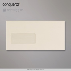 110x220 mm (DL) Cream Conqueror Laid Envelope, Cream, Peel and Seal