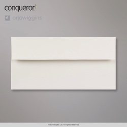 110x220 mm (DL) Milk White Conqueror Wove Envelope, Milk White, Peel and Seal