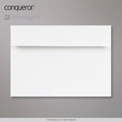 162x229 mm (C5) Brilliant White Conqueror Laid Envelope, Brilliant White, Peel and Seal