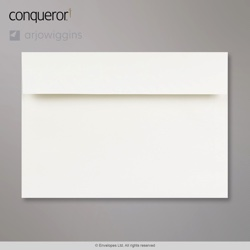 162x229 mm (C5) High White Conqueror Laid Envelope, High White, Peel and Seal