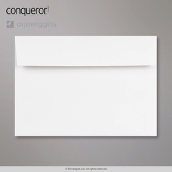162x229 mm (C5) Brilliant White Conqueror Contoured Envelope, Brilliant White, Peel and Seal