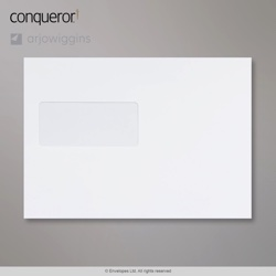 162x229 mm (C5) Busta Conqueror diamante bianco, Bianco diamante, Con autoadesivo protetto da strip