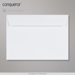 229x324 mm (C4) Busta Conqueror diamante bianco, Bianco diamante, Con autoadesivo protetto da strip
