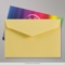 62x94 mm Yellow V-flap Peel & Seal Envelope